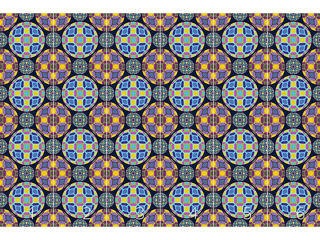 Designtapete Bullaugen Geometrie