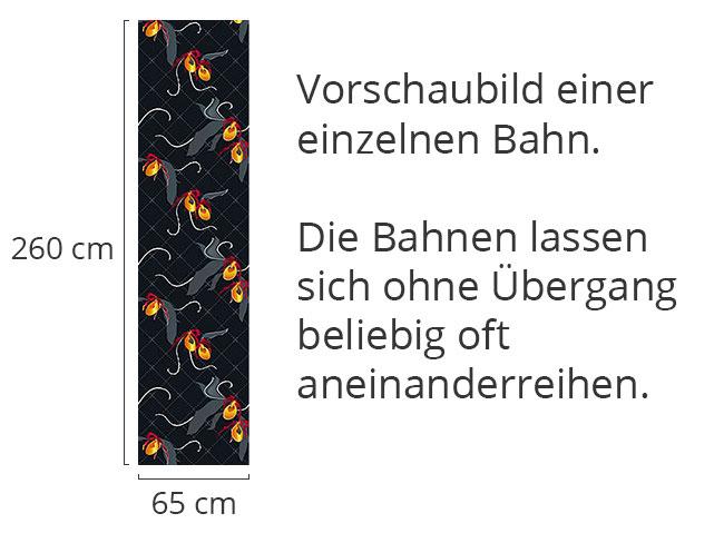 Designtapete Frauenschuh Schwarz