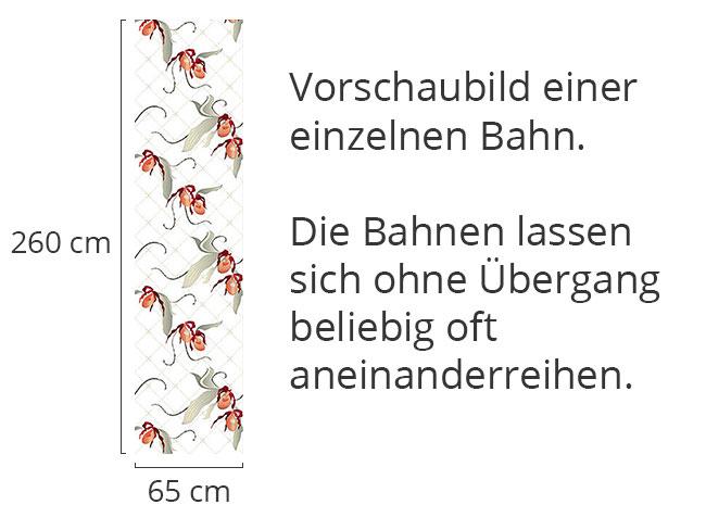 Designtapete Frauenschuh In Weiss