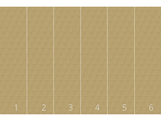 Designtapete Goldkreise