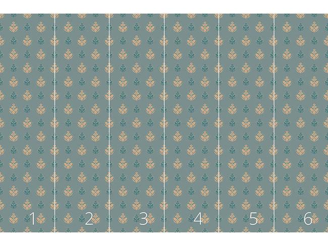 Designtapete Kühle Blüten Opulenz