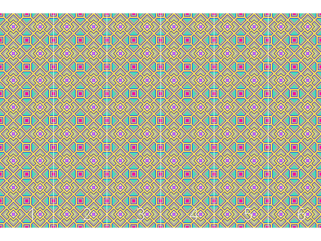 Designtapete Das Quadrat Labyrinth