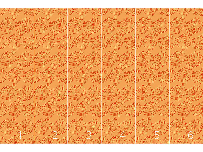 Designtapete Orange Tigers