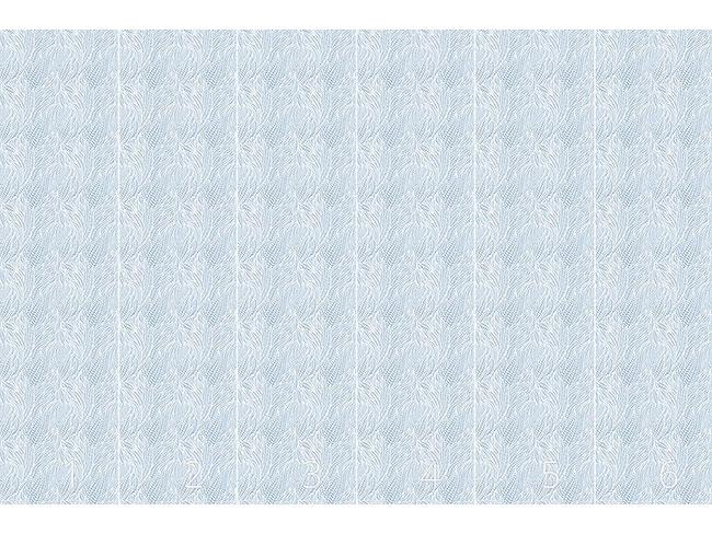 Designtapete Frost Blatt