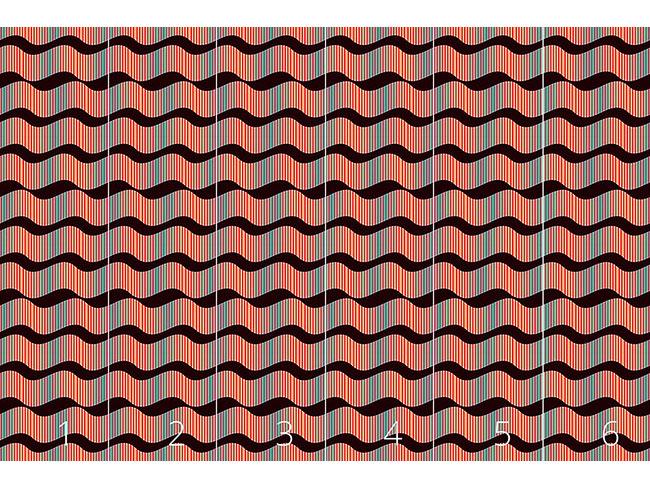 Designtapete Makro Wellen