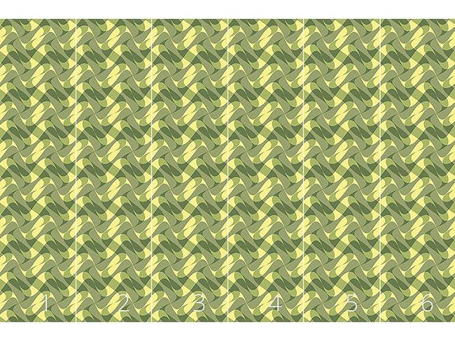 Designtapete Wellen Camouflage