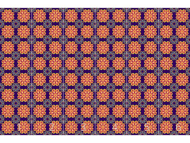 Designtapete Spiralblumen Mit Herz