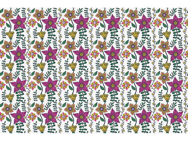 Designtapete Blumen Des Ostens