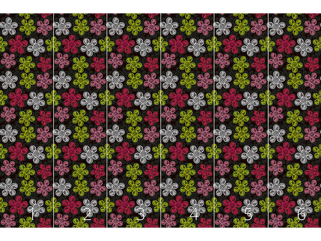Designtapete Blumenkunst