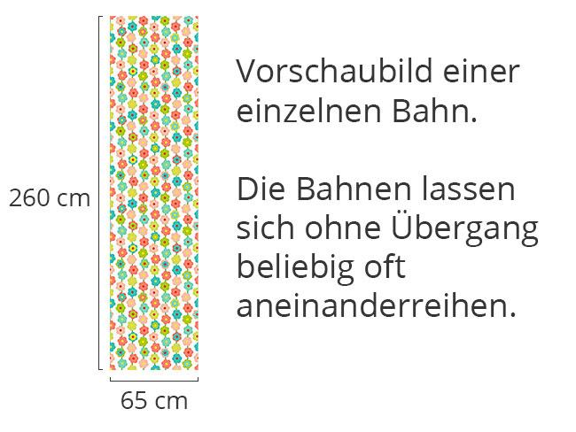 Designtapete Blümchen Vorhang