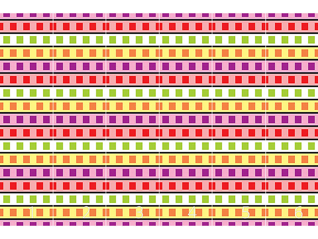 Designtapete Farbfilm Geometrie
