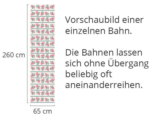 Designtapete Gesticktes Blumenmeer