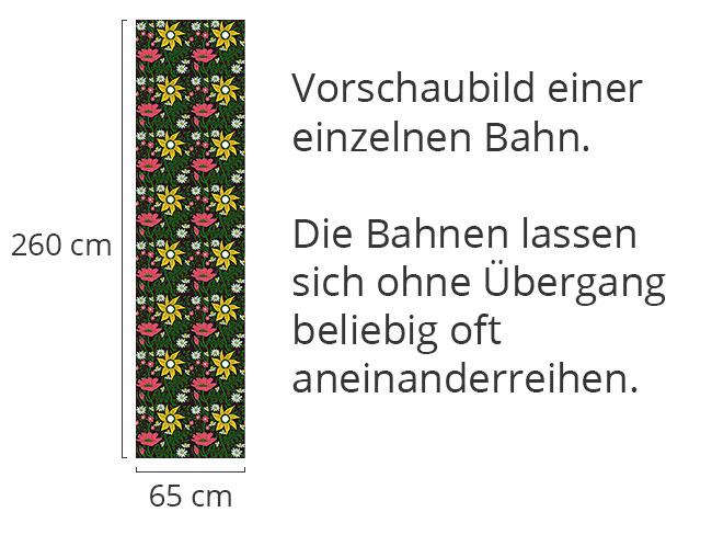 Designtapete Alpiner Gartenzauber
