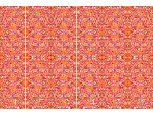 Designtapete Blütenblatt Kaleidoskop