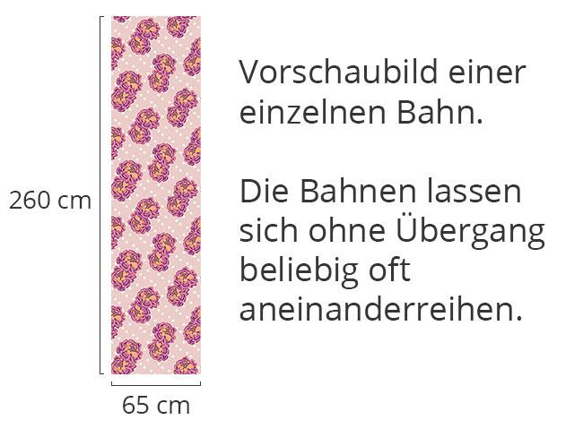 Designtapete Rosenpärchen