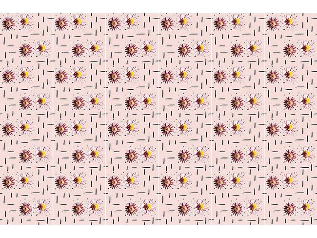 Designtapete Gänseblümchen Zählen