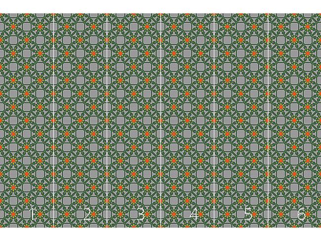Designtapete Floraler Drahtzaun