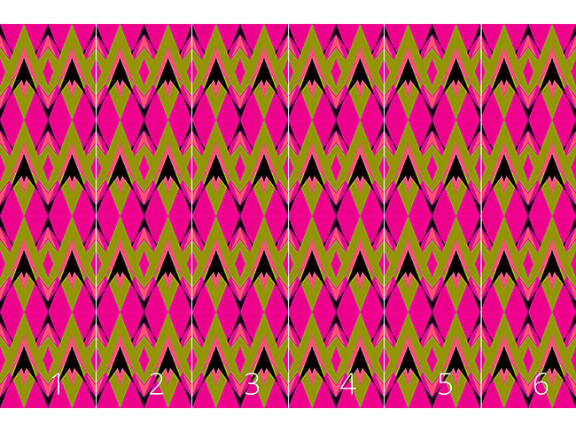 Designtapete Pink Pop Deco