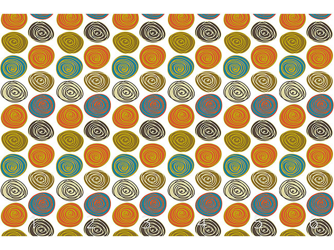 Designtapete Steinchen Kreise