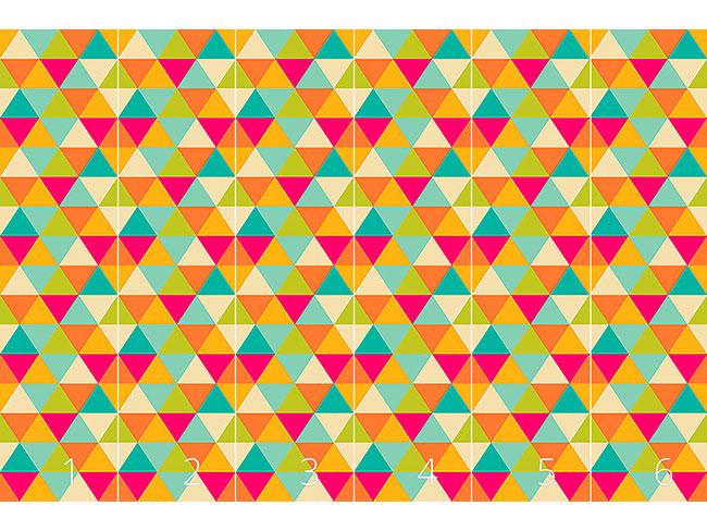 Designtapete Dreiecke