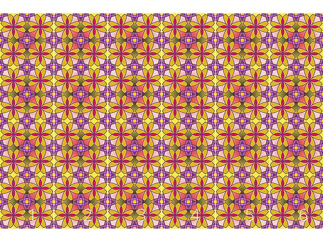 Designtapete Metro Floral Color