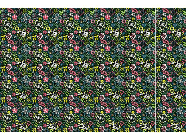 Designtapete Floraler Fantasie Mix