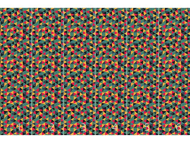 Designtapete Geometrisches Drachenkleid