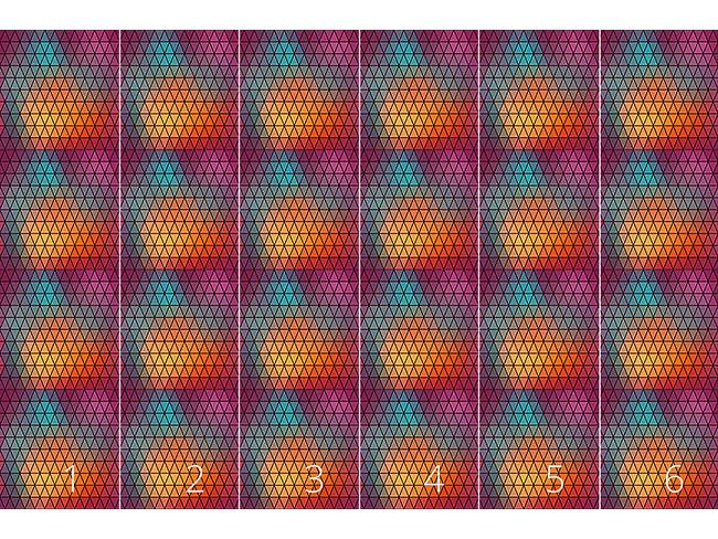Designtapete Geometrische Lichtspiele