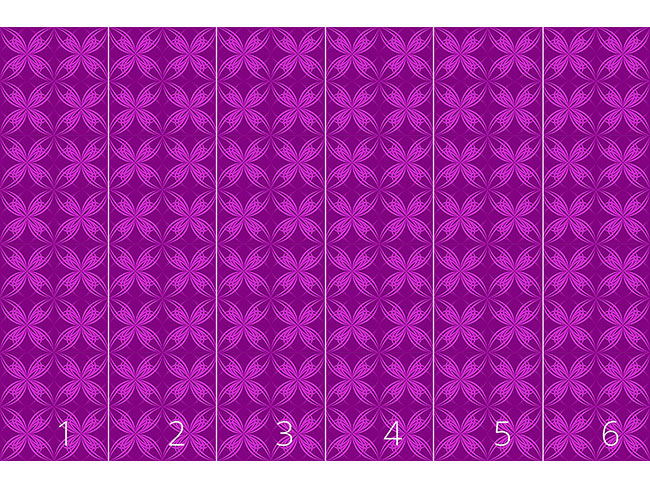 Designtapete Blüten Symmetrie