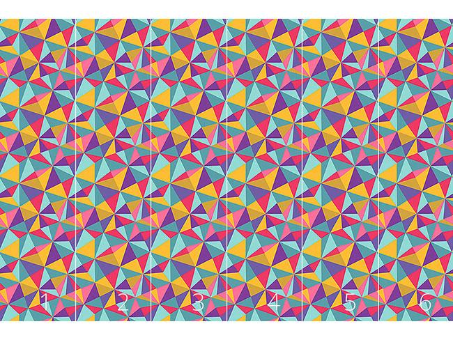 Designtapete Wildes Mosaik
