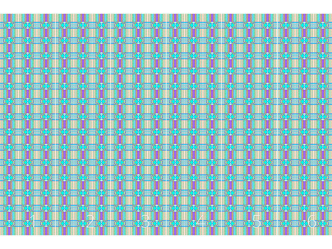 Designtapete Pixel Schottenkaro