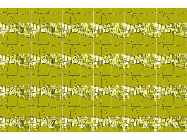 Designtapete Stilismo Grün