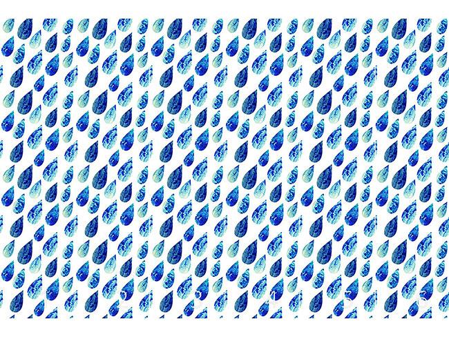 Designtapete Wasserfarben Regentropfen