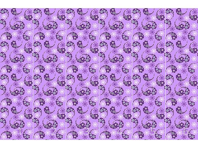 Designtapete Paisley Trifft Blume