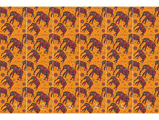 Designtapete Bergwanderung Indischer Elefanten