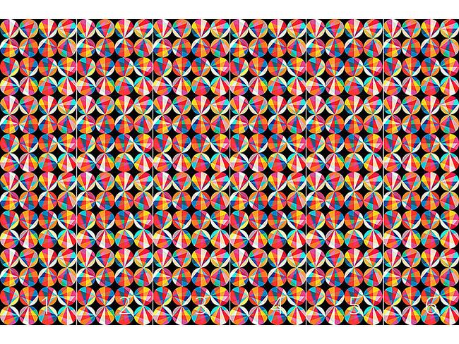 Designtapete Die Spektren Der Kreise
