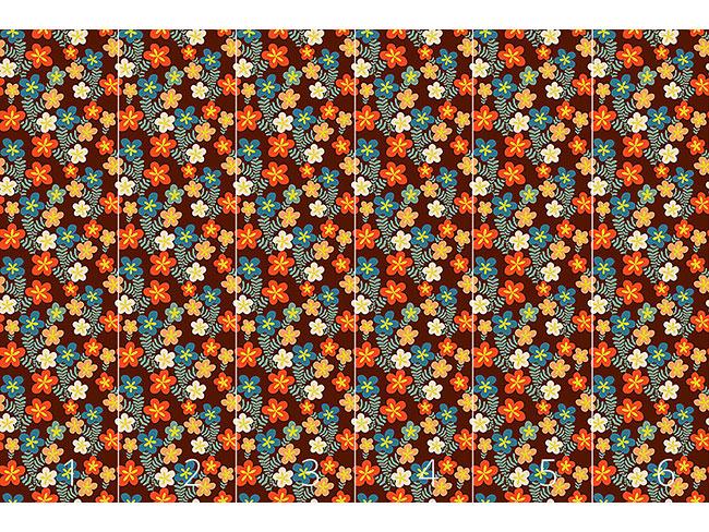 Designtapete Retro Blumen Sträusschen