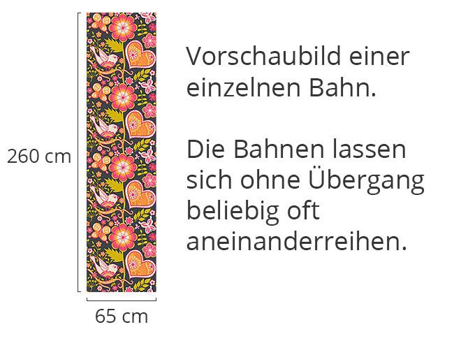 Designtapete Bohemian Garten