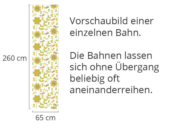 Designtapete Schräge Vöglein Fliegen Übers Blumenbeet