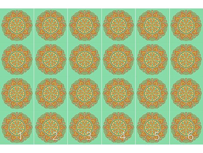Designtapete Herbst Mandala