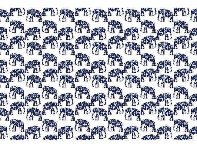 Designtapete Patchwork Elefant