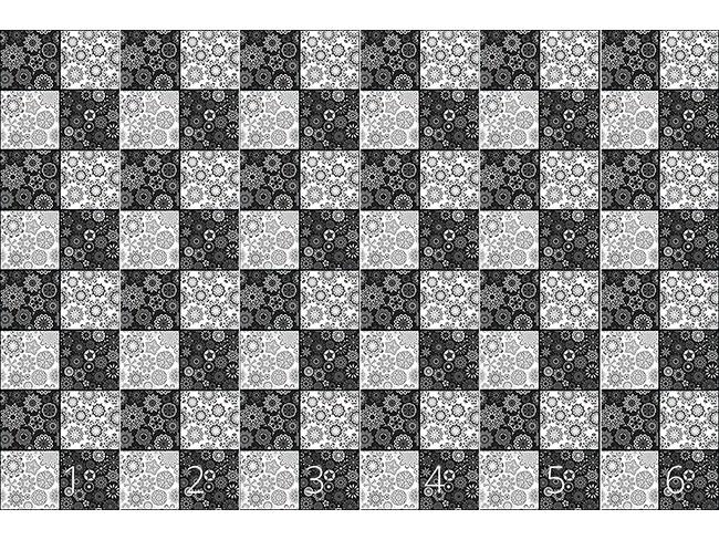 Designtapete Sterne Auf Dem Schachbrett