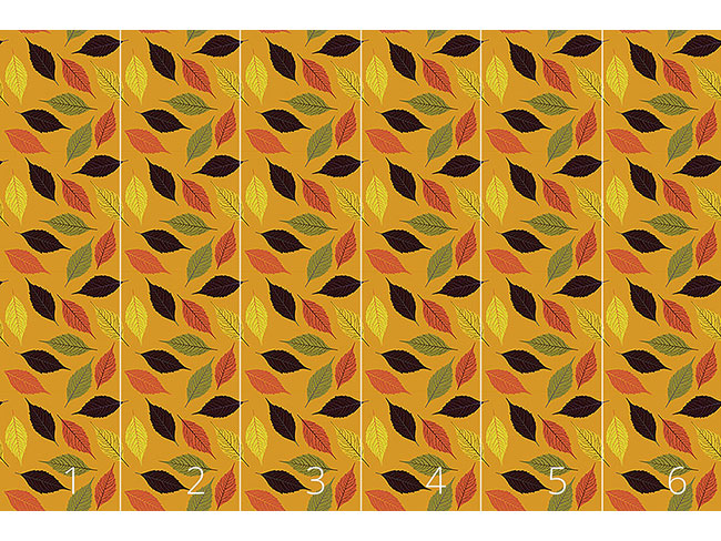 Designtapete Birkenblatt Im Herbst