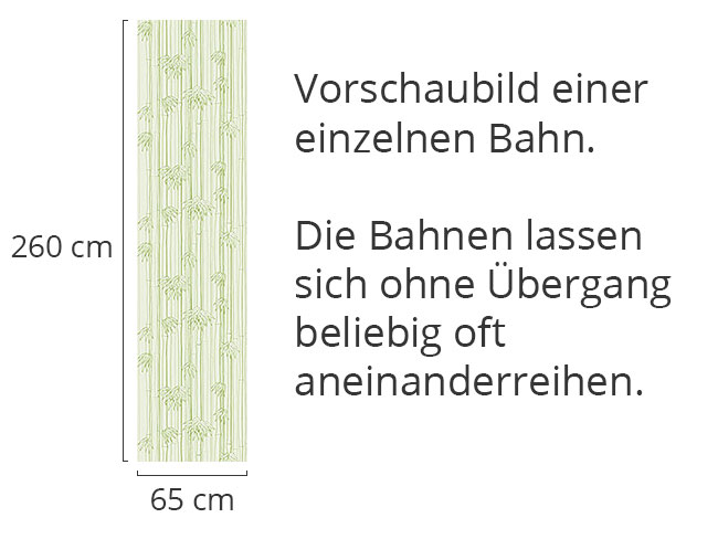 Designtapete Bambuswald