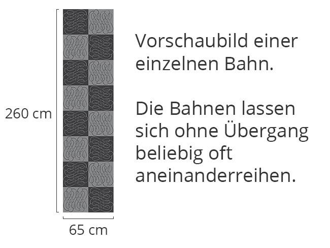 Designtapete Schachbrett Schleifen