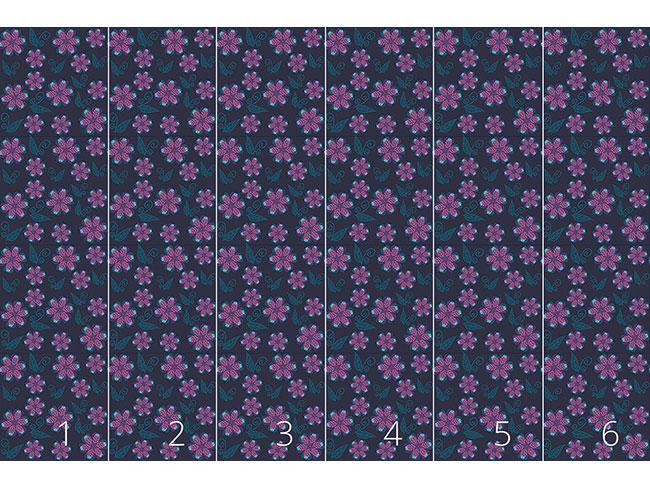 Designtapete Melancholische Winterblumen