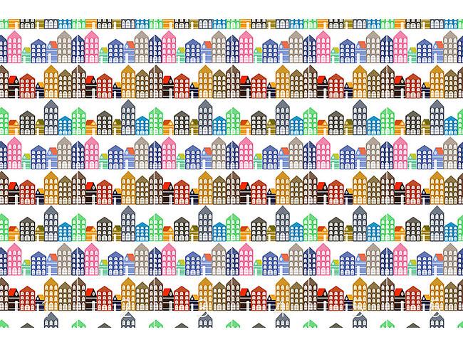 Designtapete Die Häuser Von Amsterdam