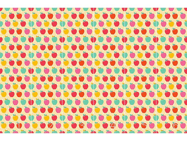 Designtapete Äpfelchen Auf Polkadot