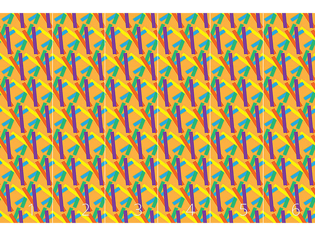 Designtapete Streifen Flickflack