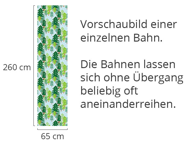 Designtapete Es Schneit Im Tannenwald